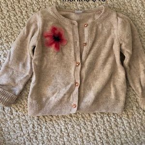 Janie and Jack flower cardigan
